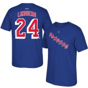 Wholesale Cheap New York Rangers #24 Oscar Lindberg Reebok Name & Number T-Shirt Royal