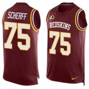 Wholesale Cheap Nike Redskins #75 Brandon Scherff Burgundy Red Team Color Men's Stitched NFL Limited Tank Top Jersey