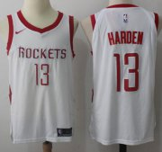 Wholesale Cheap Nike Houston Rockets #13 James Harden White Stitched NBA Jersey