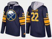 Wholesale Cheap Sabres #22 Johan Larsson Blue Name And Number Hoodie