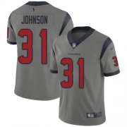 Wholesale Cheap Nike Texans #31 David Johnson Gray Youth Stitched NFL Limited Inverted Legend Jersey