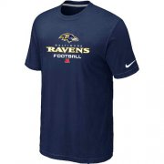 Wholesale Cheap Nike Baltimore Ravens Critical Victory NFL T-Shirt Midnight Blue