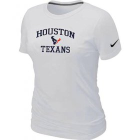 Wholesale Cheap Women\'s Nike Houston Texans Heart & Soul NFL T-Shirt White