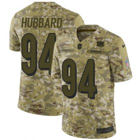 Wholesale Cheap Nike Bengals #94 Sam Hubbard Camo Men\'s Stitched NFL Limited 2018 Salute To Service Jersey