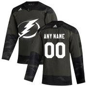 Wholesale Cheap Tampa Bay Lightning Adidas 2019 Veterans Day Authentic Custom Practice NHL Jersey Camo