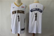 Wholesale Cheap Pelicans 1 Zion Williamson White Nike Swingman Jersey