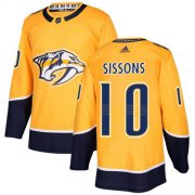 Wholesale Cheap Adidas Predators #10 Colton Sissons Yellow Home Authentic Stitched NHL Jersey