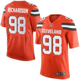 Wholesale Cheap Nike Browns #98 Sheldon Richardson Jr Orange Alternate Men\'s Stitched NFL New Elite Jersey