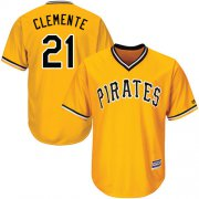 Wholesale Cheap Pirates #21 Roberto Clemente Gold Cool Base Stitched Youth MLB Jersey