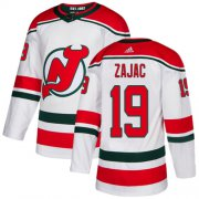 Wholesale Cheap Adidas Devils #19 Travis Zajac White Alternate Authentic Stitched Youth NHL Jersey