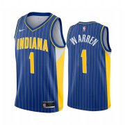 Wholesale Cheap Nike Pacers #1 TJ Warren Blue NBA Swingman 2020-21 City Edition Jersey