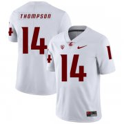 Wholesale Cheap Washington State Cougars 14 Jack Thompson White College Football Jersey