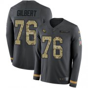 Wholesale Cheap Nike Cardinals #76 Marcus Gilbert Anthracite Salute to Service Men's Stitched NFL Limited Therma Long Sleeve Jersey