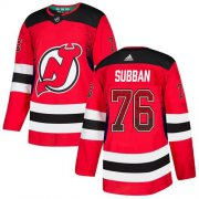 Wholesale Cheap Adidas Devils #76 P.K. Subban Red Home Authentic Drift Fashion Stitched NHL Jersey