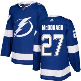 Wholesale Cheap Adidas Lightning #27 Ryan McDonagh Blue Home Authentic Stitched NHL Jersey
