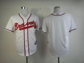 Wholesale Cheap Braves Blank White Cool Base Stitched MLB Jersey