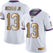 Wholesale Cheap Nike Giants #13 Odell Beckham Jr White Men's Stitched NFL Limited Gold Rush Jersey