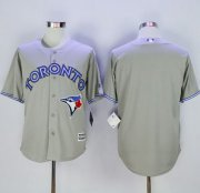 Wholesale Cheap Blue Jays Blank Grey New Cool Base Stitched MLB Jersey