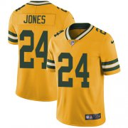 Wholesale Cheap Nike Packers #24 Josh Jones Yellow Men's Stitched NFL Limited Rush Jersey