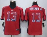 Wholesale Cheap Nike Giants #13 Odell Beckham Jr Red Alternate Women's Stitched NFL Elite Drift Fashion Jersey