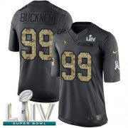 Wholesale Cheap Nike 49ers #99 DeForest Buckner Black Super Bowl LIV 2020 Men's Stitched NFL Limited 2016 Salute to Service Jersey