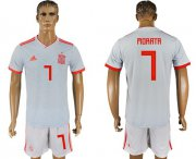 Wholesale Cheap Spain #7 Morata Away Soccer Country Jersey