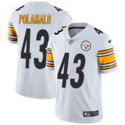 Wholesale Cheap Nike Steelers #43 Troy Polamalu White Youth Stitched NFL Vapor Untouchable Limited Jersey