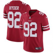 Wholesale Cheap Nike 49ers #92 Kerry Hyder Red Team Color Youth Stitched NFL Vapor Untouchable Limited Jersey