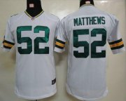 Wholesale Cheap Nike Packers #52 Clay Matthews White Youth Stitched NFL Elite Jersey