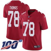 Wholesale Cheap Nike Giants #78 Andrew Thomas Red Alternate Men's Stitched NFL 100th Season Vapor Untouchable Limited Jersey