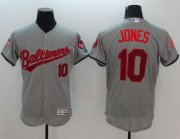 Wholesale Cheap Orioles #10 Adam Jones Grey Fashion Stars & Stripes Flexbase Authentic Stitched MLB Jersey