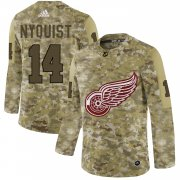 Wholesale Cheap Adidas Red Wings #14 Gustav Nyquist Camo Authentic Stitched NHL Jersey