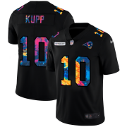 Cheap Los Angeles Rams #10 Cooper Kupp Men's Nike Multi-Color Black 2020 NFL Crucial Catch Vapor Untouchable Limited Jersey