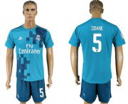 Wholesale Cheap Real Madrid #5 Zidane Sec Away Soccer Club Jersey