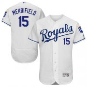 Wholesale Cheap Royals #15 Whit Merrifield White Flexbase Authentic Collection Stitched MLB Jersey