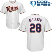 Wholesale Cheap Twins #28 Bert Blyleven White Cool Base Stitched Youth MLB Jersey