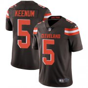 Wholesale Cheap Nike Browns #5 Case Keenum Brown Team Color Men's Stitched NFL Vapor Untouchable Limited Jersey