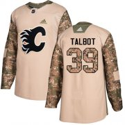 Wholesale Cheap Adidas Flames #39 Cam Talbot Camo Authentic 2017 Veterans Day Stitched Youth NHL Jersey