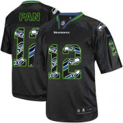 Wholesale Cheap Nike Seahawks #12 Fan New Lights Out Black Youth Stitched NFL Elite Jersey