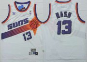 Wholesale Cheap Phoenix Suns #13 Steve Nash White Hardwood Classics Soul Swingman Throwback Jersey