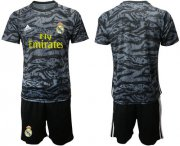 Wholesale Real Madrid Blank Black Goalkeeper Soccer Club Jersey