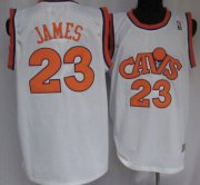 Wholesale Cheap Cleveland Cavaliers #23 LeBron James CavFanatic White Swingman Throwback Jersey