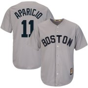 Wholesale Cheap Boston Red Sox #11 Luis Aparicio Majestic Cooperstown Collection Cool Base Player Jersey Gray