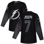 Cheap Adidas Lightning #7 Mathieu Joseph Black Alternate Authentic Youth Stitched NHL Jersey