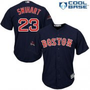 Wholesale Cheap Red Sox #23 Blake Swihart Navy Blue Cool Base 2018 World Series Champions Stitched Youth MLB Jersey