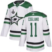 Cheap Adidas Stars #11 Andrew Cogliano White Road Authentic Youth 2020 Stanley Cup Final Stitched NHL Jersey