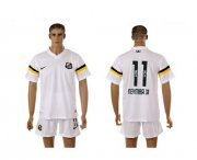 Wholesale Cheap Santos #11 Neymarjr White Home Soccer Club Jersey