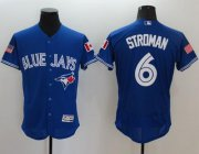 Wholesale Cheap Blue Jays #6 Marcus Stroman Blue Fashion Stars & Stripes Flexbase Authentic Stitched MLB Jersey
