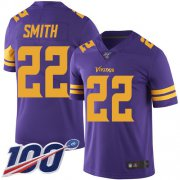 Wholesale Cheap Nike Vikings #22 Harrison Smith Purple Men's Stitched NFL Limited Rush 100th Season Jersey