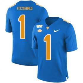 Wholesale Cheap Pittsburgh Panthers 1 Larry Fitzgerald Blue 150th Anniversary Patch Nike College Football Jersey